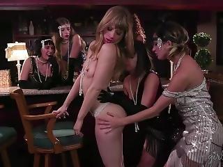 Bradwurst - Girlsway - Jenna Sativa And Ivy Wolfe - A Flapper Story - Hd