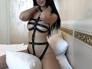 Beautiful Girl In Kinky Outfit Sucks Huge Dildo - Mini Diva