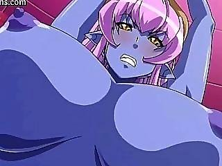 Blue Anime Doll With Huge Breasts