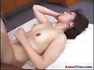 Mature Asian Enjoying A Bbc