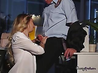 Accountant Natalia Starr Sucks Office Security Cock