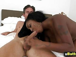Big Booty Ebony Babe Slammed From Behind!