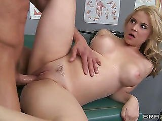 Superb Blond With Trimmed Muff Sarah Vandella Enjoys Fucking With Doctor Tommy Gunn