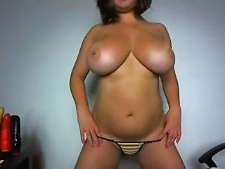 Awesome Massive Boobs With Tanlines - Exhibition With Bikini And Glasses