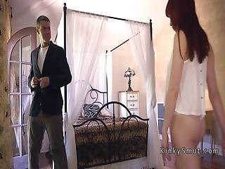 Gardener Ties Up And Fucks Redhead Babe