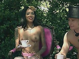 Swingers Having A Tea Outside Naked