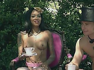 Swingers Having A Tea Outside Naked