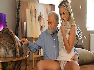 Old4k Shanie Has A Crush On Her Grey-bearded Geography Teacher