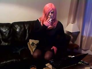 Tgirl Smoking