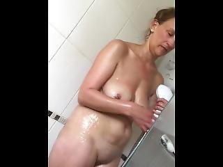 Having A Shower