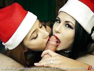 Christmas Double Blowjob - Ljforeplay X Lena Hayz