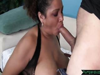 Tittyfucked Bbw Riding Hard Cock In Closeup