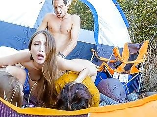 Bffs- Wild Teens Share Cock Outdoors After Hike