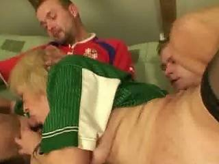 Old Bitch Loses A Bet And Gives Up Her Cunt