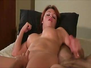 Milf With Big Fake Tits Strokes Him While He Fingers Her