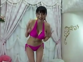 Anna Okina - Pink Bikini