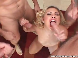 Stunning Blonde Fucked In Her Throat