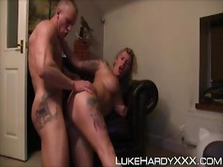 Inked English Skank Grinds My Cock And Tapes It For Hubby