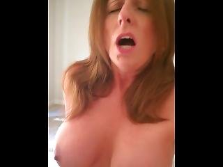 Slut Mom, Milf Tiffany, Moaning While Fucking Cock In Her Pussy