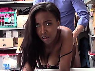 Busty Ebony Teen Suspect Punish Fucked By A Lp Officer