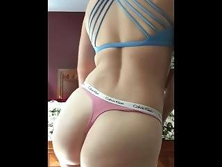 Brunette With Fat Ass Strip Teases