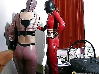 Fetish, Mask, Rubber, Threesome