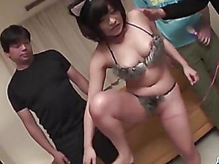 Aika Hoshino Brunette Doll Enjoys Gangbang Sex