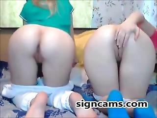 Two Cuties Webcam Teasing