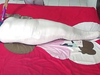 [mummification.net] A Fat Girl Mummy Wrapped Up Helpless