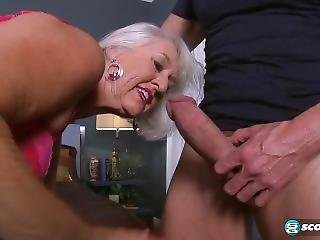 Silver Haired Mature Butt Slut