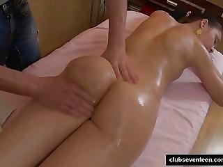 Brunette Teen Gets Massaged And Fucked