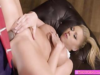 Sexy Hot Kaitie Gets Banged Upside Down By Big Black Cock