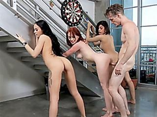Insane Teens Banged By A Human Dildo In A Pussy Palace
