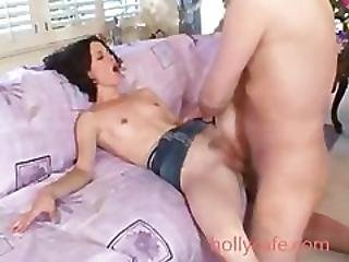 Teeny Brunette Takes Out A Big Dick Insurance Policy Pussy To Mouth
