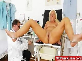 Blonde, Doctor, Enema, Examination, Gyno, Mature, Milf, Mom, Pussy, Wife