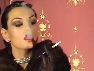 Fur Mistress Smoking