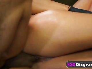 Esmi Lee Bondaged And Fucked Rough In The Ass By Tattooed Stud