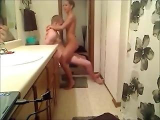 Amateur-couple-get-down-with-a-raunchy-bathroom-fuck-session