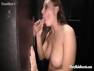 Sexy Nerdy Girl Sucks Cocks Like A Pro In Gloryhole