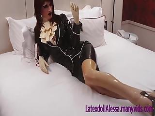 gummi latex fetisch fotze