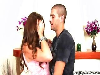 Allison Moore Gets Help From Boyfriends Friend Thanks Him With A Wet Cock Ride
