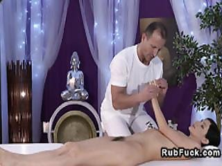 Masseur Fucks And Licks Hairy Pussy