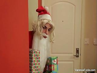 Vanessa Cage Is Naughty Santa S Helper