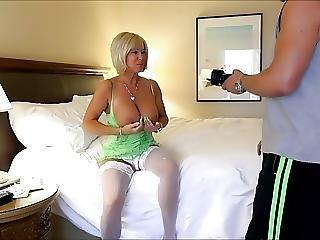 Hot Milf In Green Dress