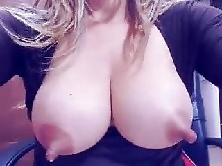 Hucow Lactating Her Huge Milkers