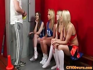 Cfnm Cheerleaders Sucking Huge Cock