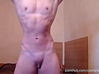Pec Flexing, Posing And Hot Masturbation - Muscle Girl Anouk