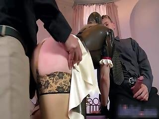 Perfect Rubber Fuck Doll Enjoying Being Properly Used By Two