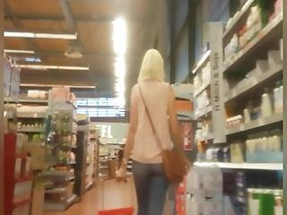 Tight Milf Ass In Jeans Shopping And Bending Over A Little