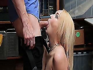 Lp Officer Feeds The Shoplifter His Huge Cock